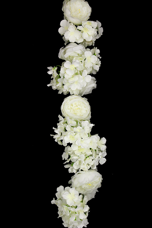 ARTIFICIAL ARTIFICIALS FLOWER FLOWERS PLANT PLANTS SYNTHETIC SYNTHETICS FAKE FAKES SILK SILKS PLASTIC PLASTICS GARLAND GARLANDS STRING STRINGS STRAND STRANDS ROSE ROSES 180CM 180CMS HYDRANGEA HYDRANGEAS WISTERIA WISTERIUM PEONY PEONIES PEONIE WEDDING WEDDINGS HEADS HEAD