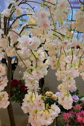 Cherry Blossom Tree With 84 Led Light Pink 170cmh Holstens